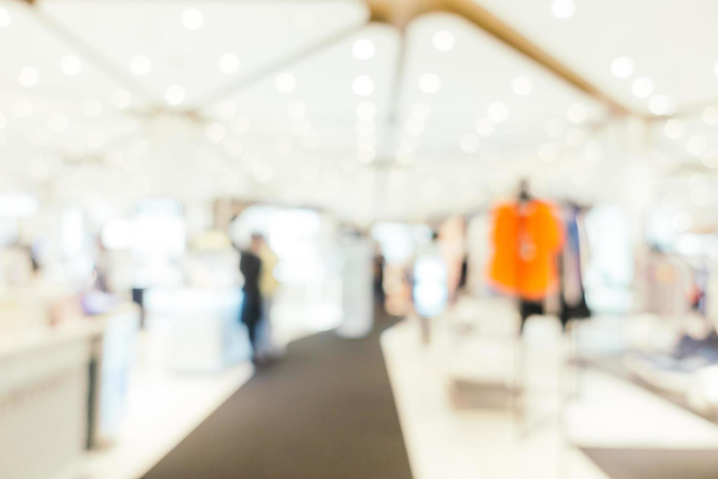 Abstract blur and defocused luxury shopping mall of department store interior for background photo