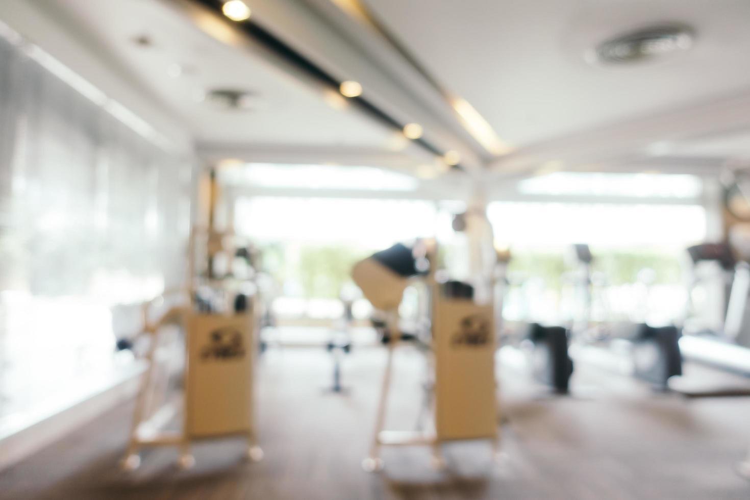 Desenfoque abstracto y equipo de fitness desenfocado foto