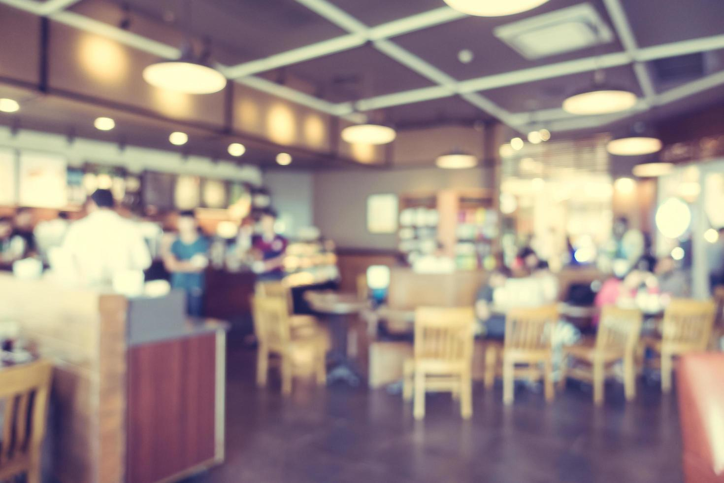 desenfoque abstracto y cafetería desenfocada foto