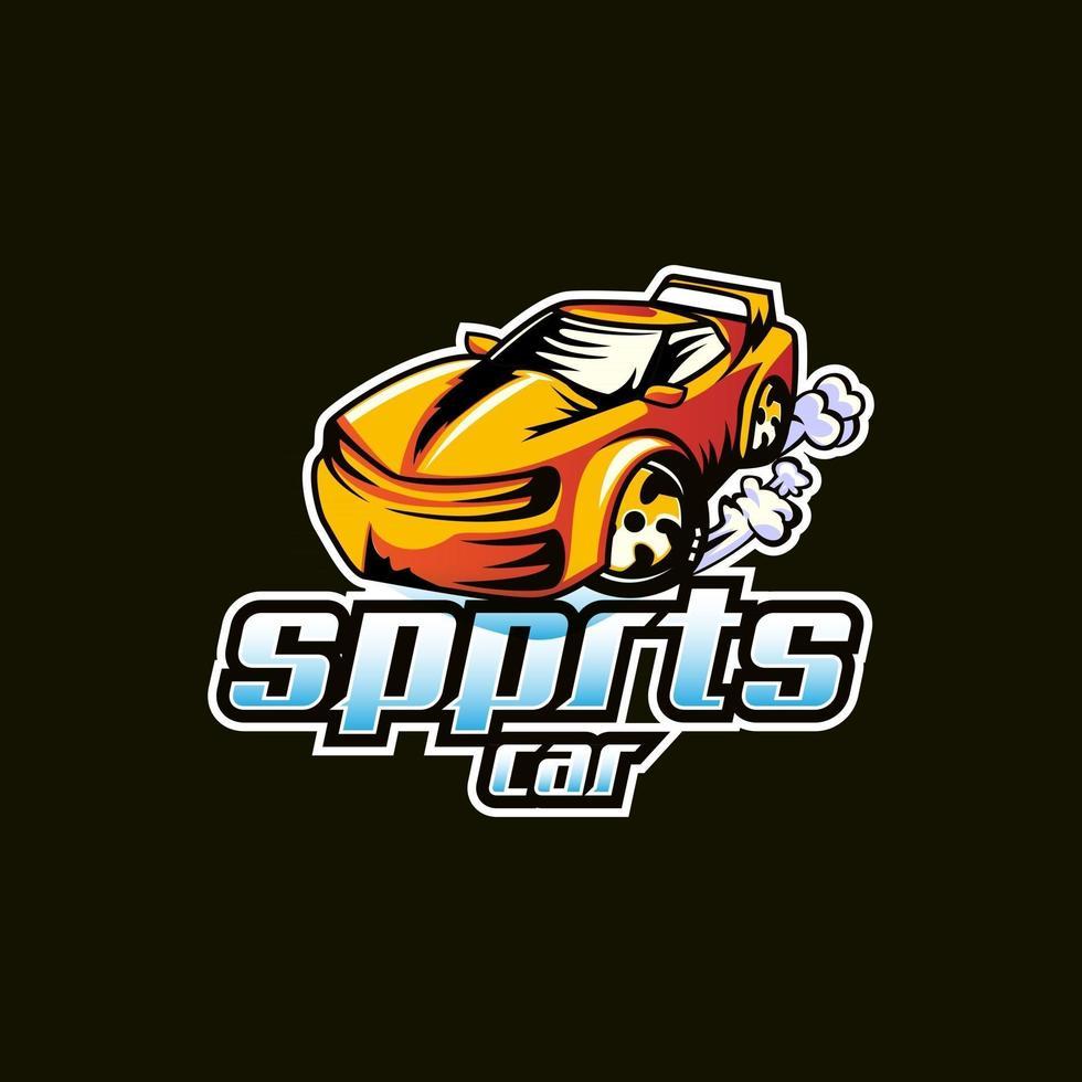 Sports car mascot logo vector design concept