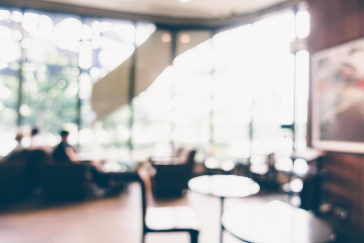 cafeteria borrosa abstracta foto