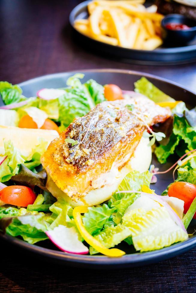 Salmon meat fillet steak photo
