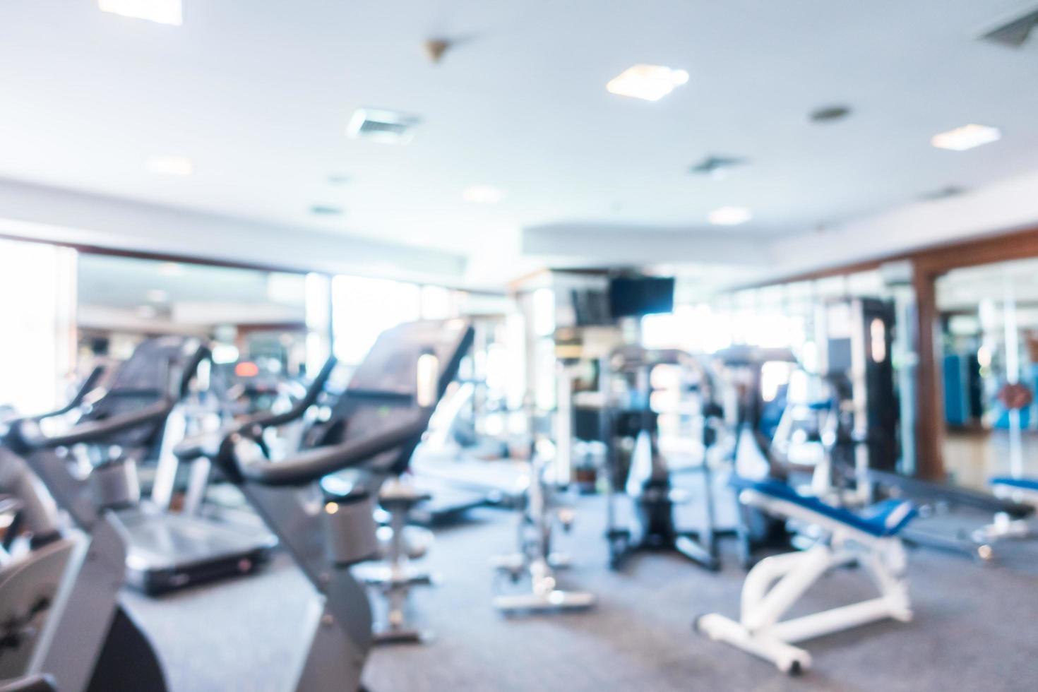 Desenfoque abstracto gimnasio y sala de fitness foto