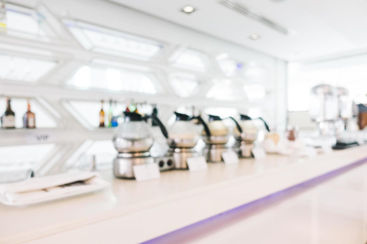 Abstract blur and defocused buffet in restaurant at hotel interior photo