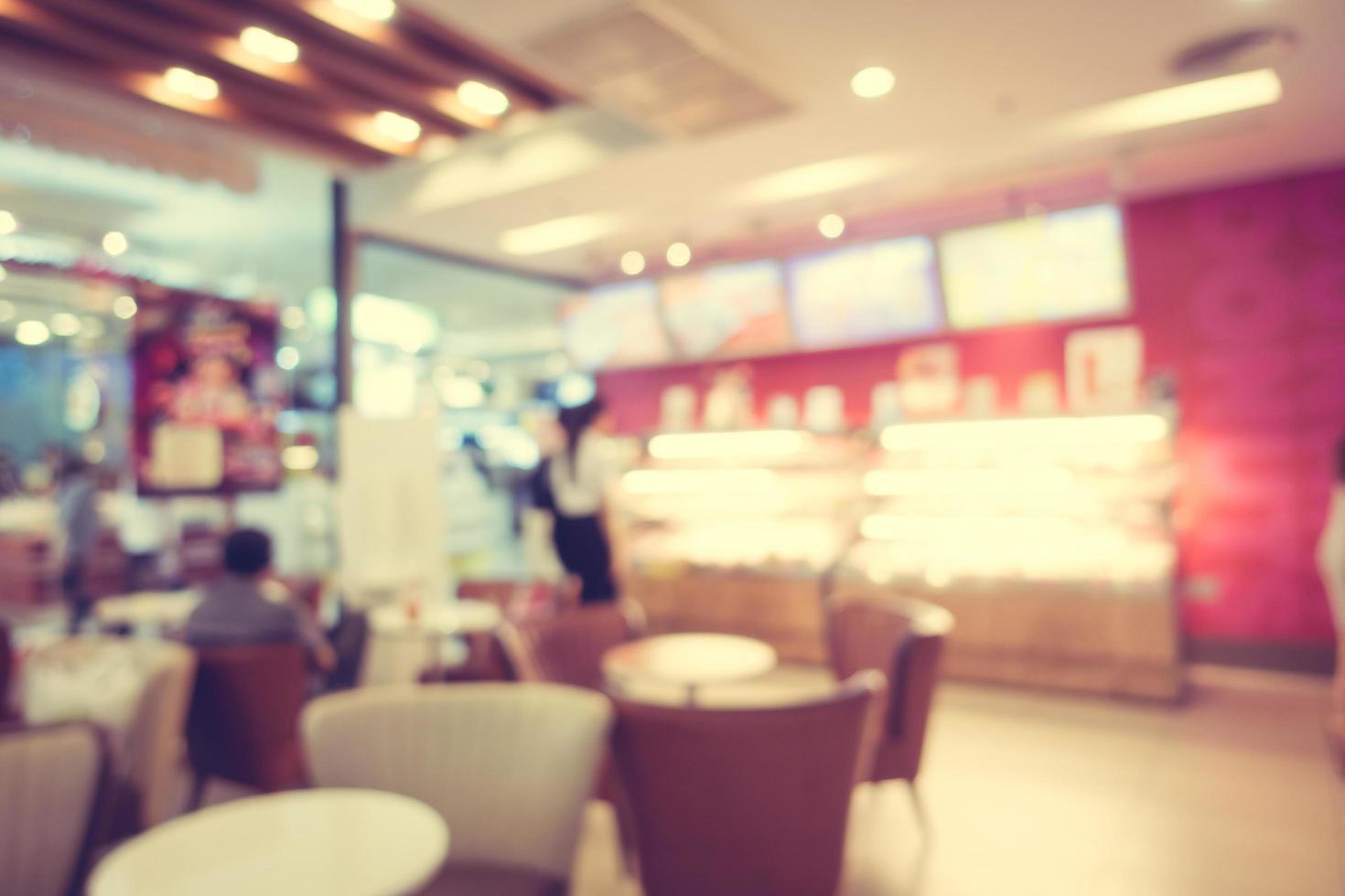 restaurante borroso abstracto y cafetería cafetería foto