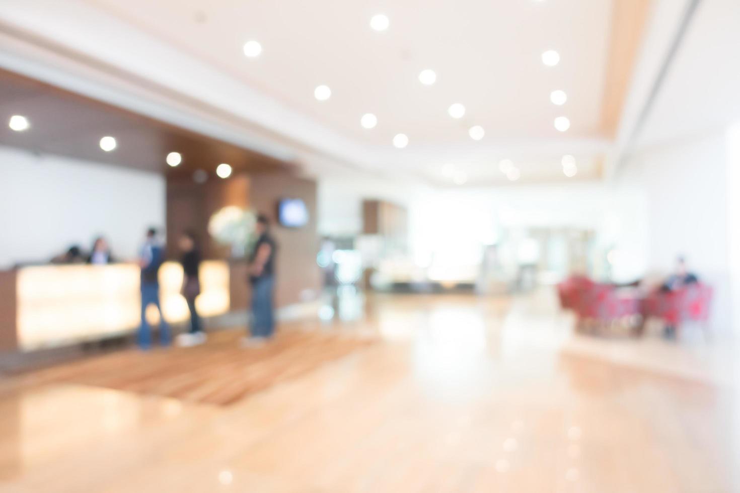 Interior del hotel y el vestíbulo de desenfoque abstracto foto