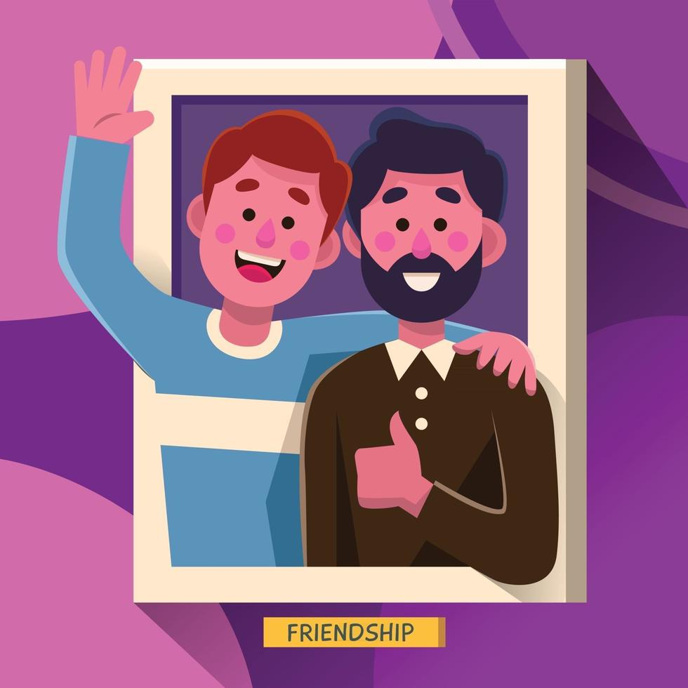 Happy Friendship Day Best Friend Forever vector