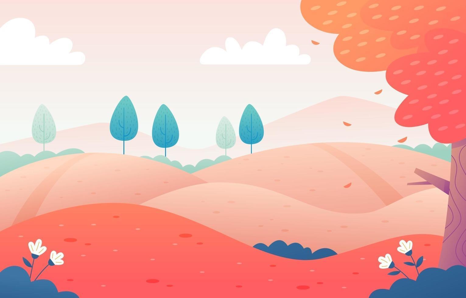 Natural Landscape Fall Season vector
