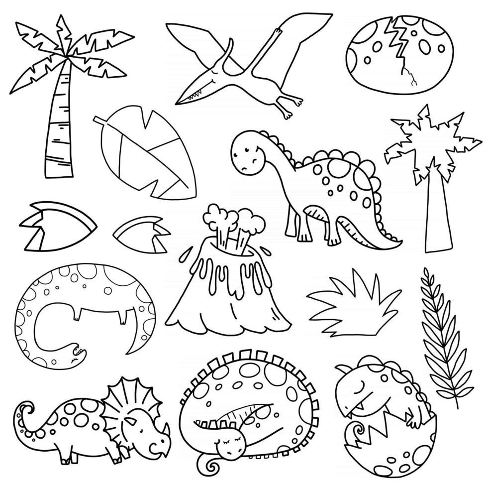 Dinosaur Scene Making Set vector