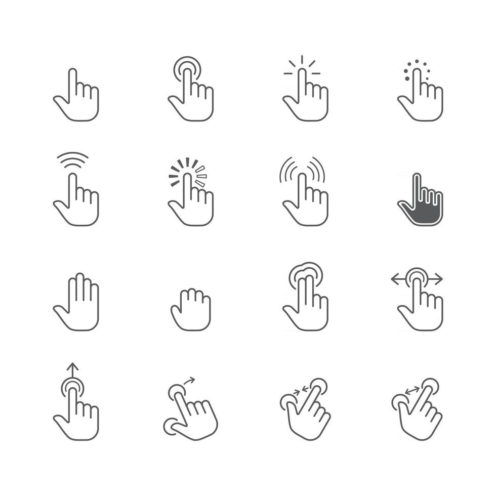 Set of Hand Pointer vector