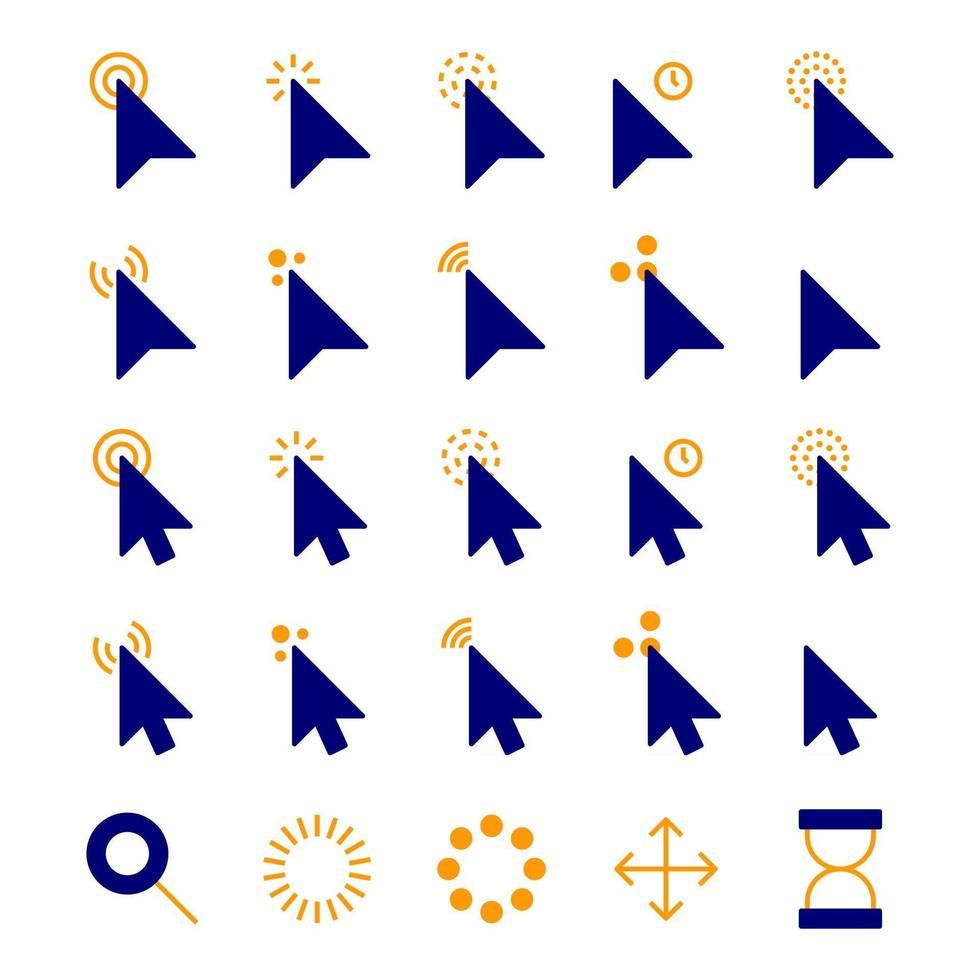 Mouse Cursor Icons vector