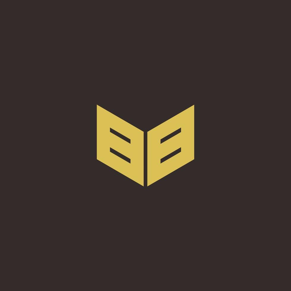 BB Logo Letter Initial Logo Designs Template with Gold and Black Background vector