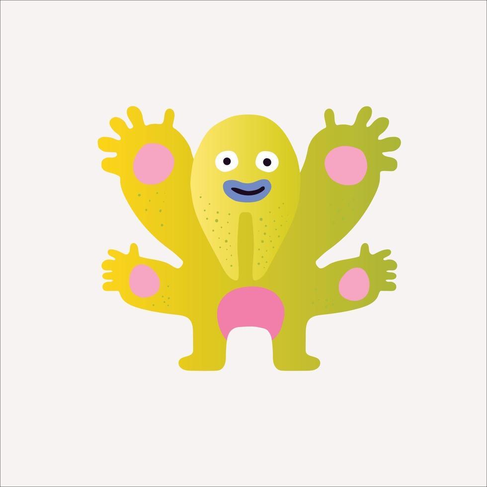 monster cartoon design 3d vector