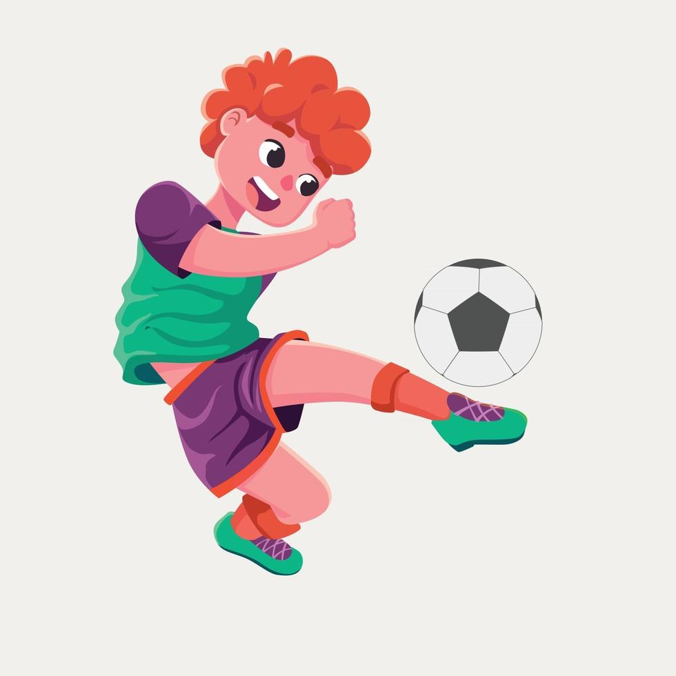 football player training flat design vector