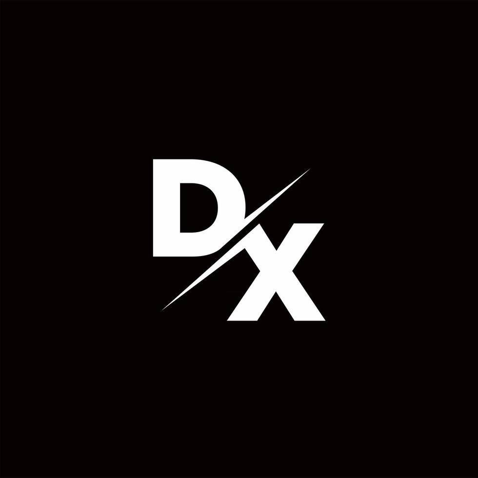 DX Logo Letter Monogram Slash with Modern logo designs template vector