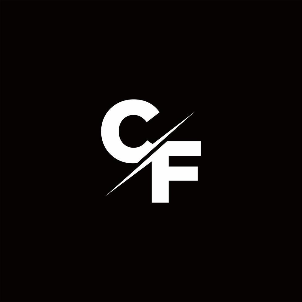 CF Logo Letter Monogram Slash with Modern logo designs template vector