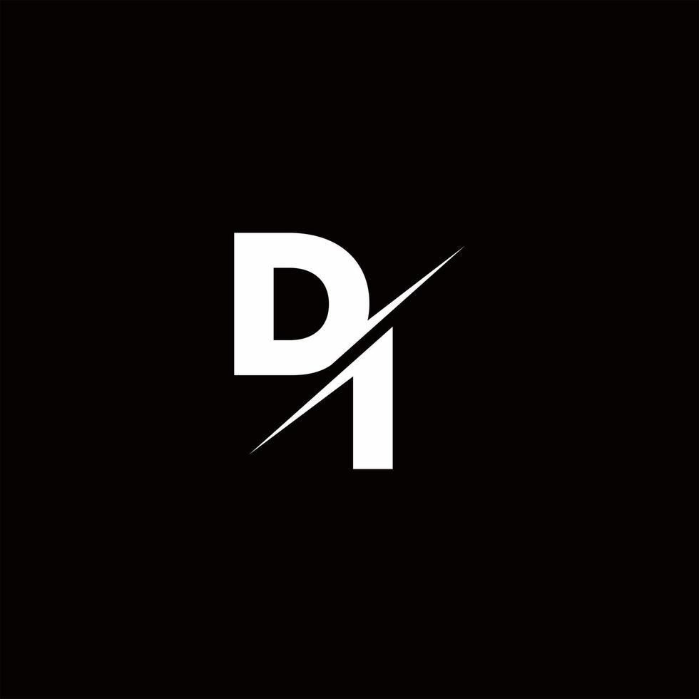 DI Logo Letter Monogram Slash with Modern logo designs template vector
