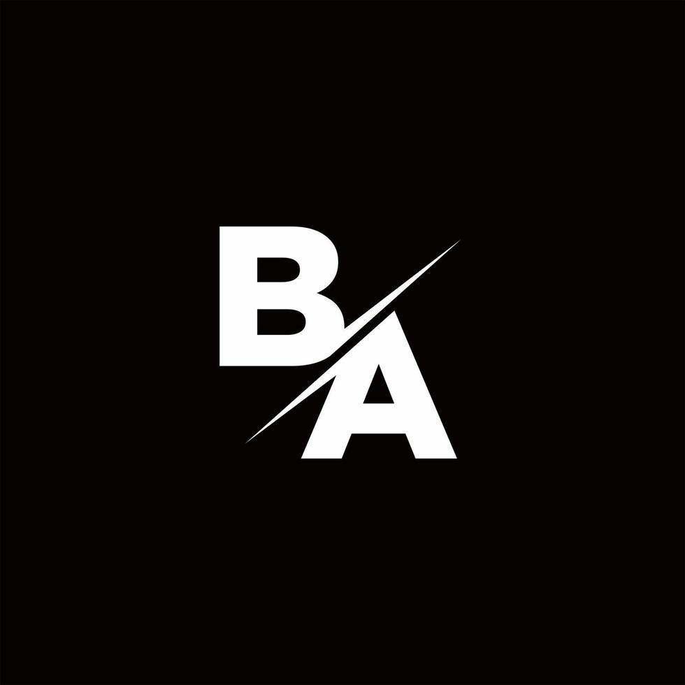 BA Logo Letter Monogram Slash with Modern logo designs template vector