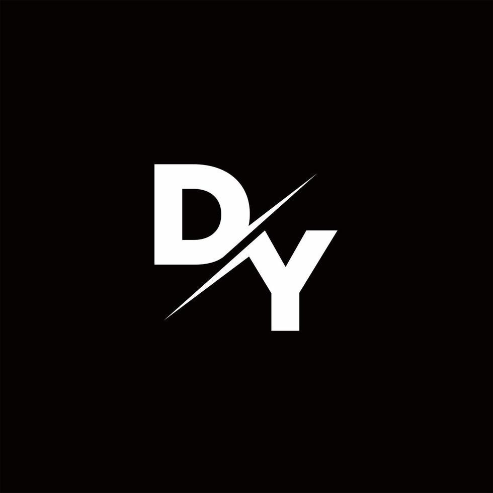 DY Logo Letter Monogram Slash with Modern logo designs template vector