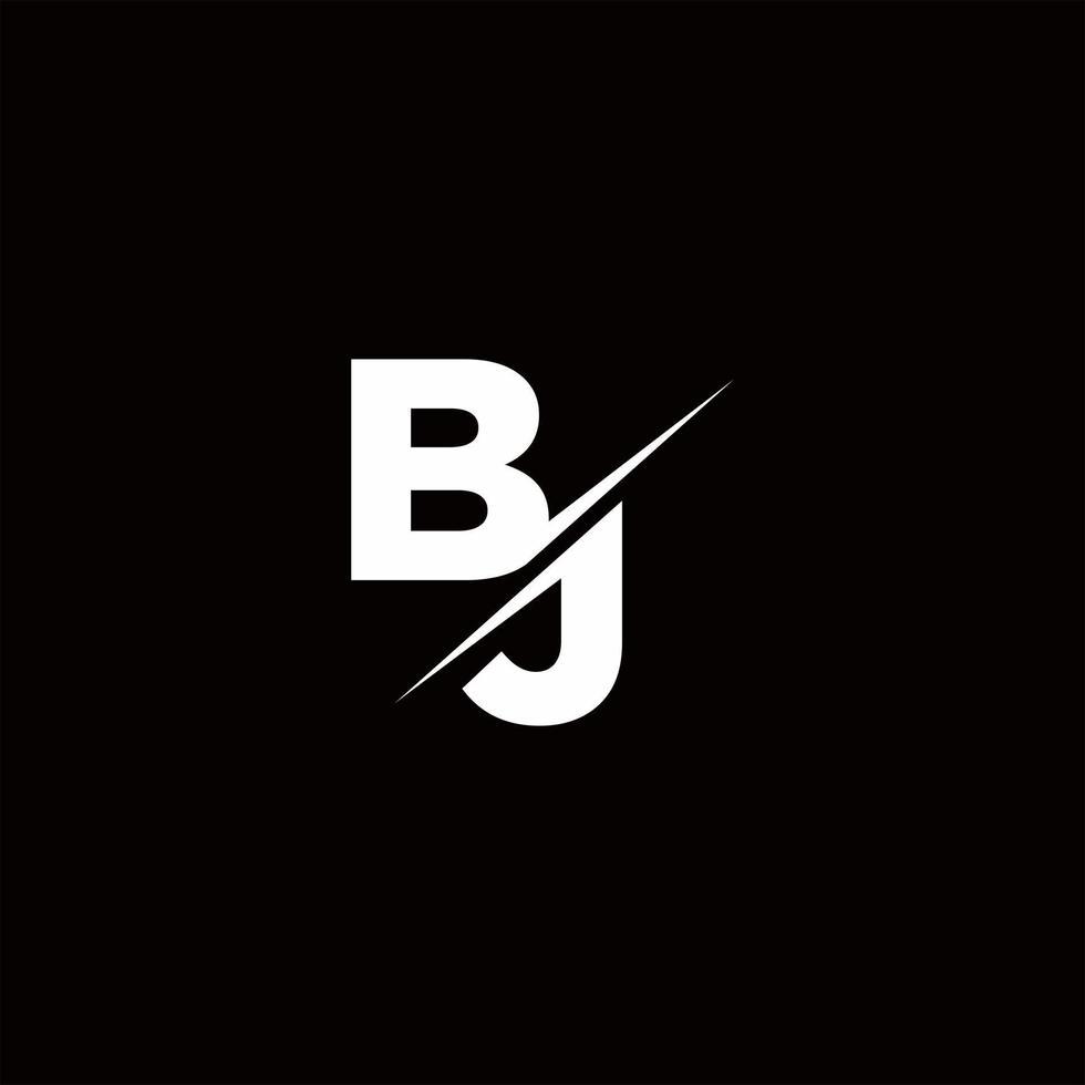 BJ Logo Letter Monogram Slash with Modern logo designs template vector