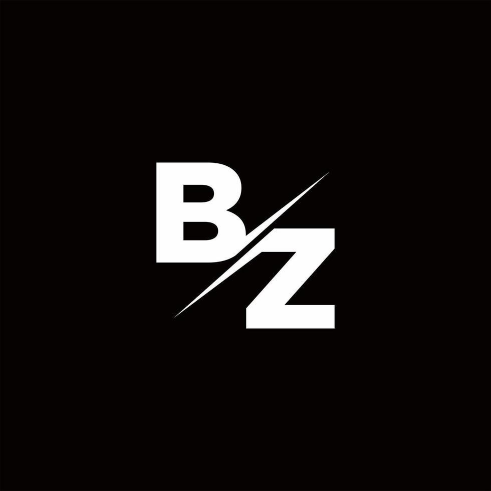 BZ Logo Letter Monogram Slash with Modern logo designs template vector