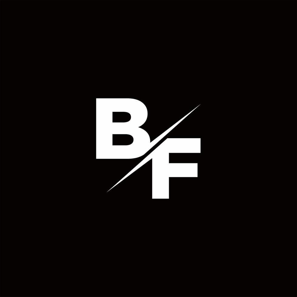 BF Logo Letter Monogram Slash with Modern logo designs template vector