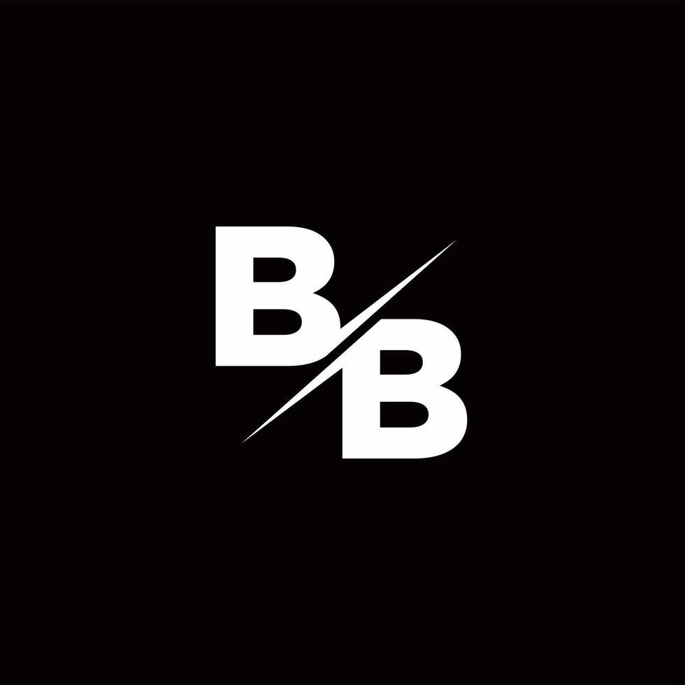 BB Logo Letter Monogram Slash with Modern logo designs template vector