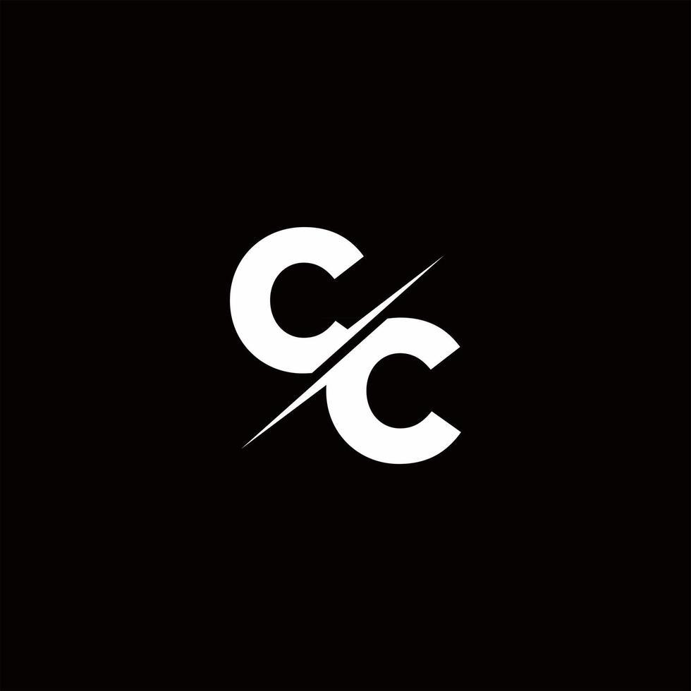 CC Logo Letter Monogram Slash with Modern logo designs template vector