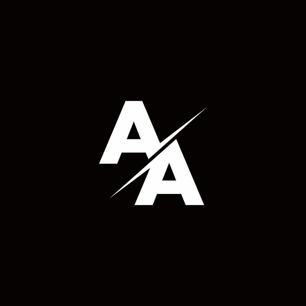 AA Logo Letter Monogram Slash with Modern logo designs template vector