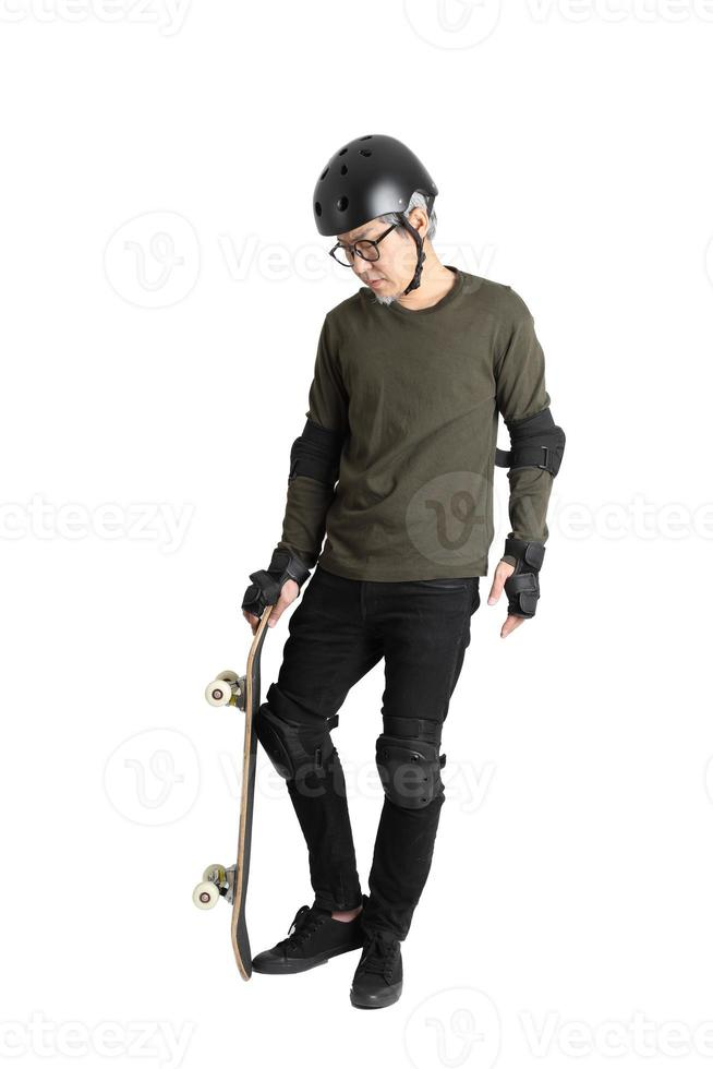 Asian Man on White Background photo