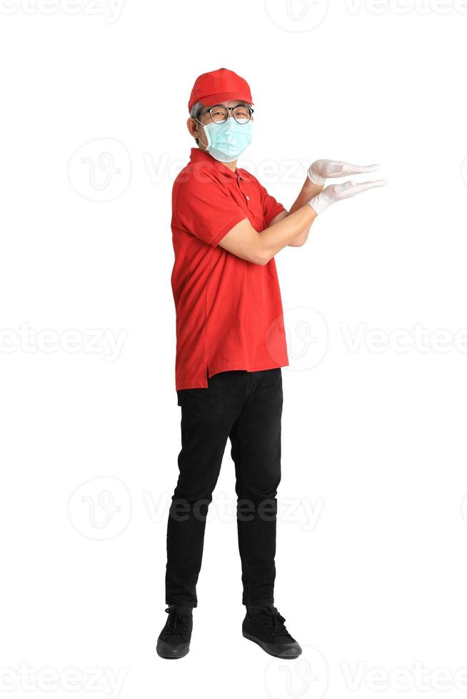 Asian Messenger with Mask photo