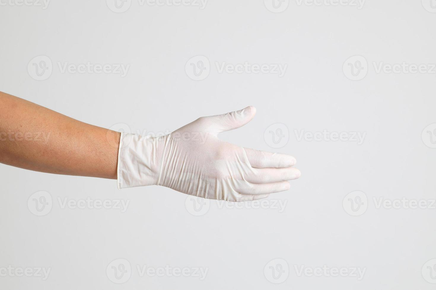 Hand with Medical Gloves photo