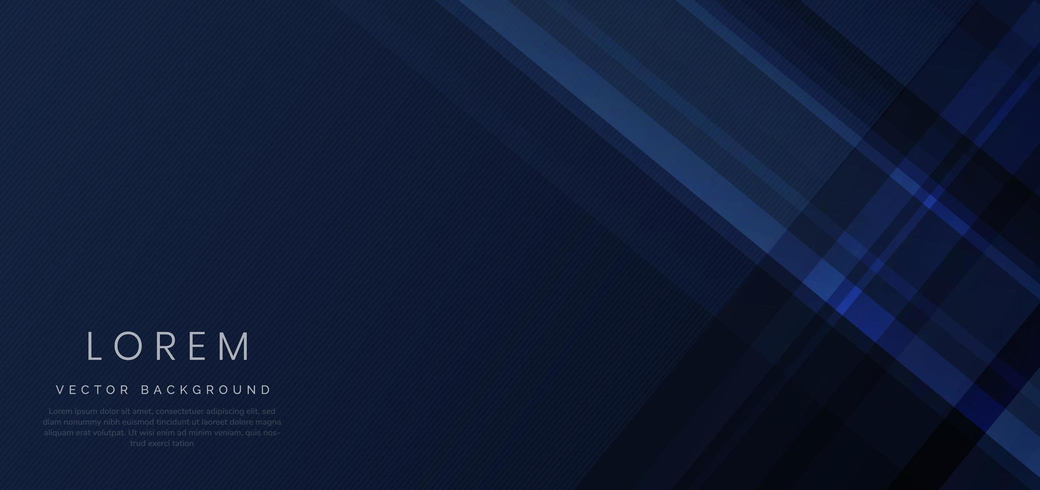 Abstract blue geometric diagonal overlay layer background. vector