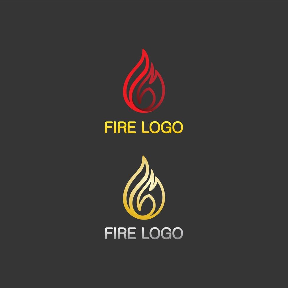 fire logo and icon, hot flaming set element Vector flame illustration design energy, warm, warning, cooking sign, logo, icon, light, power heat