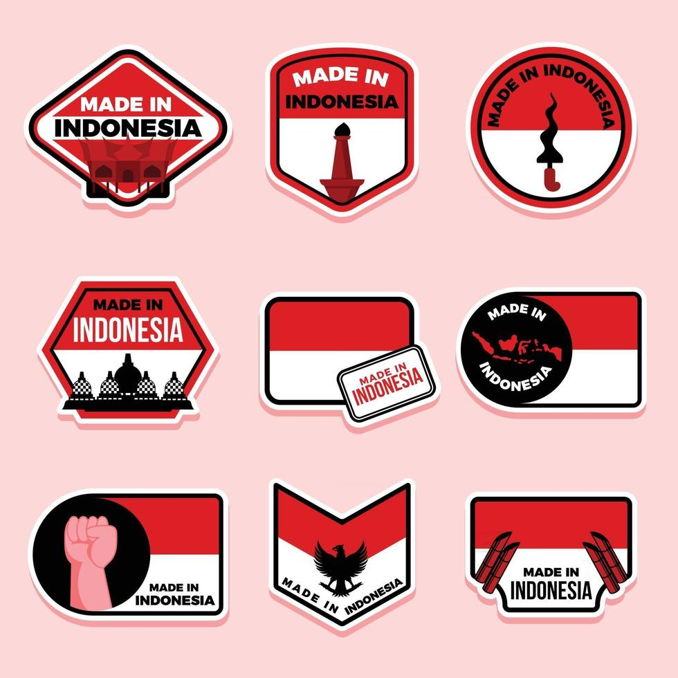 Made in Indonesia Stickers vector