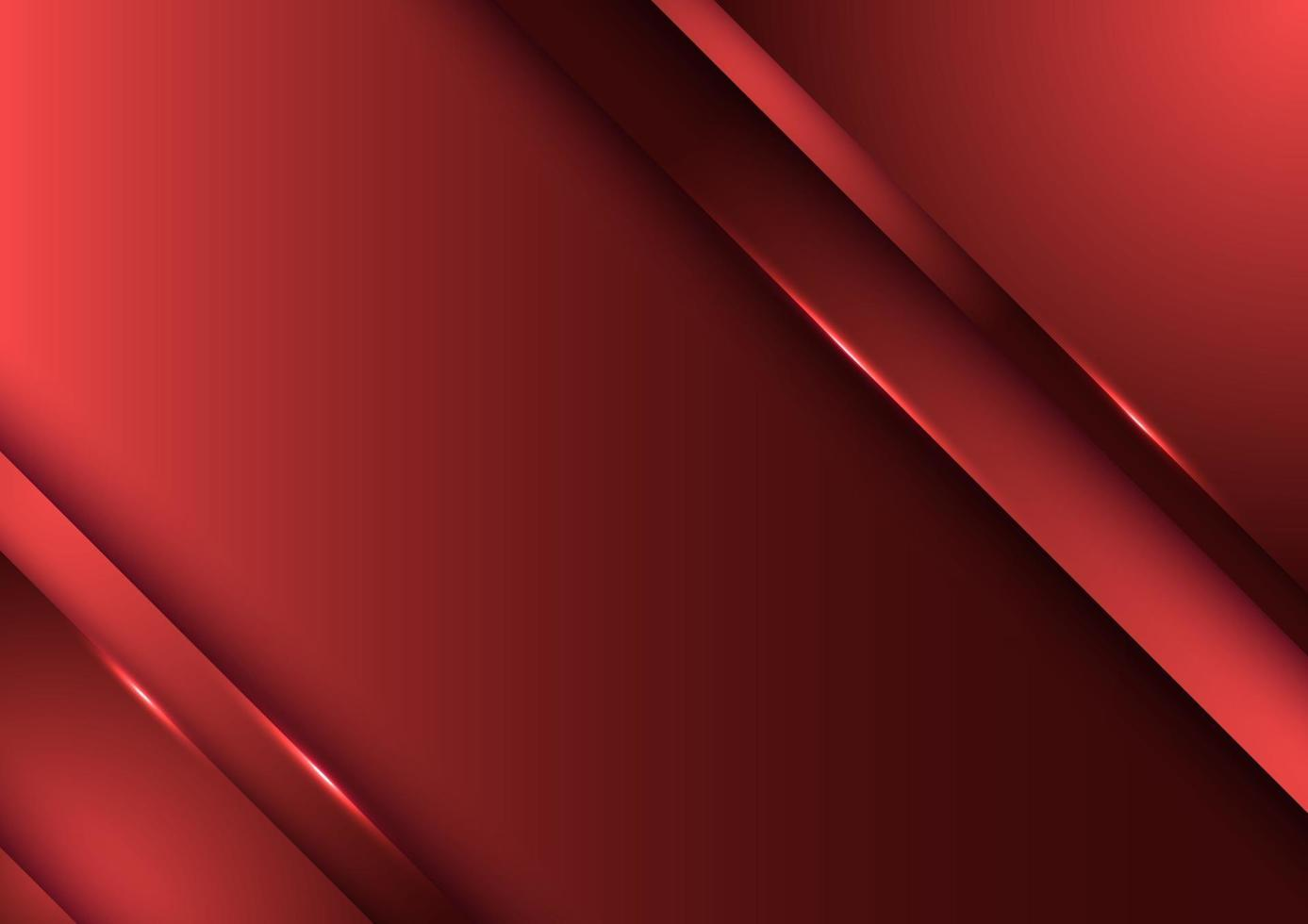 Template design abstract red gradient stripes overlap layer background with lighting vector