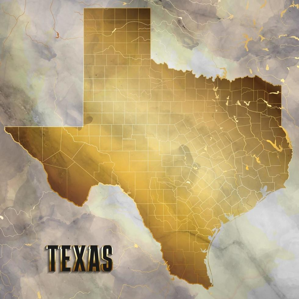 Texas Map Background in Marble Design vector