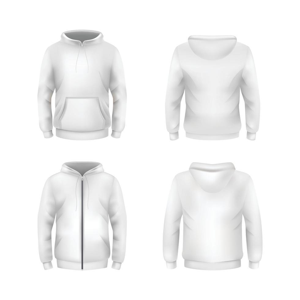 White Blank Hoodie Template vector