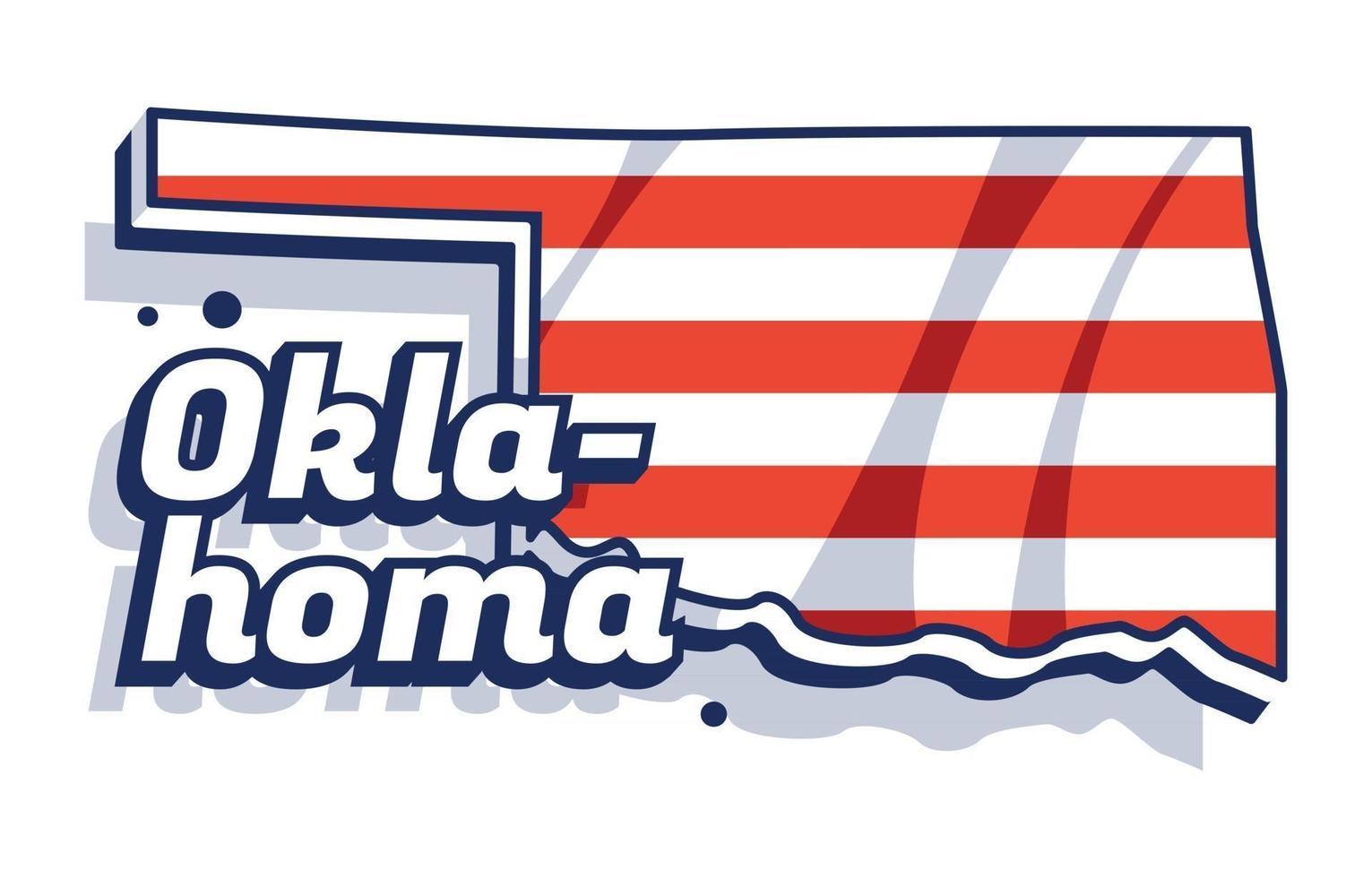 Oklahoma Map Background vector