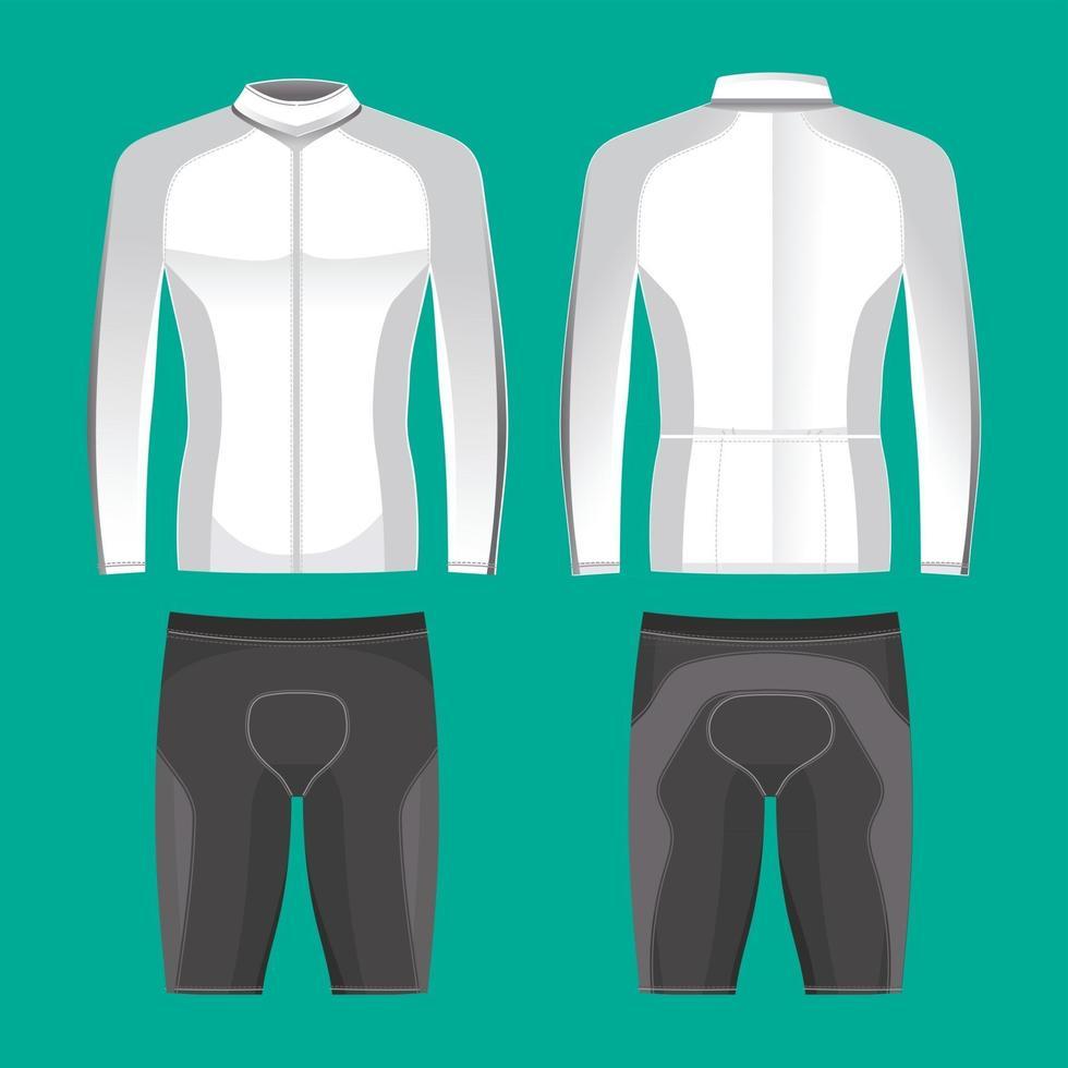 Cycling Jerseys Mockup for Cyclist Apparel vector