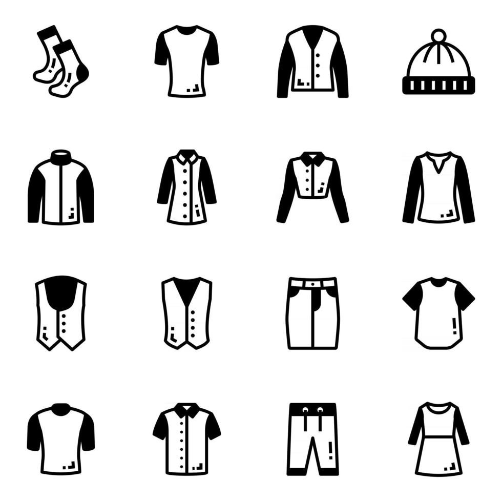 Pack of Stylish Clothes vector