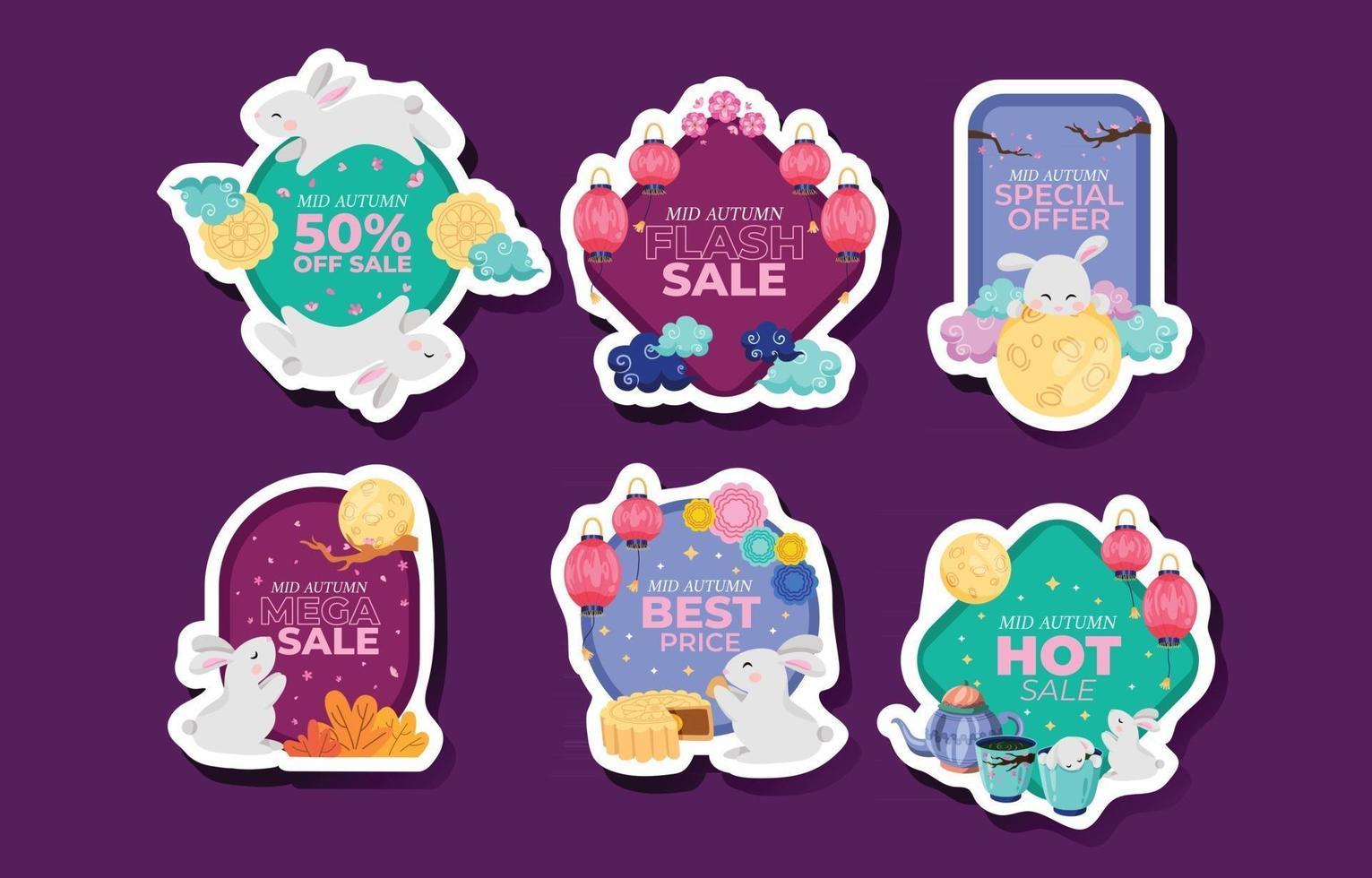 Mid Autumn Festival Sale Badge vector