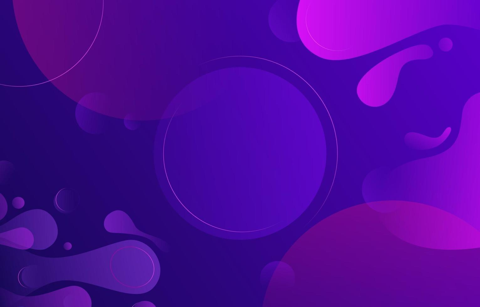 Purple Circle Liquid Shape with Highlight Line vector