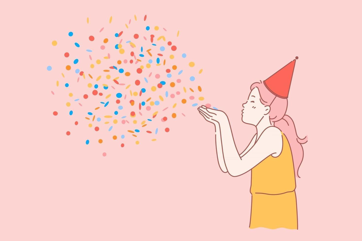 Happy birthday kids concept vector