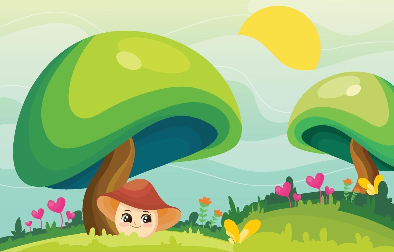 Green Field Landscape Background vector