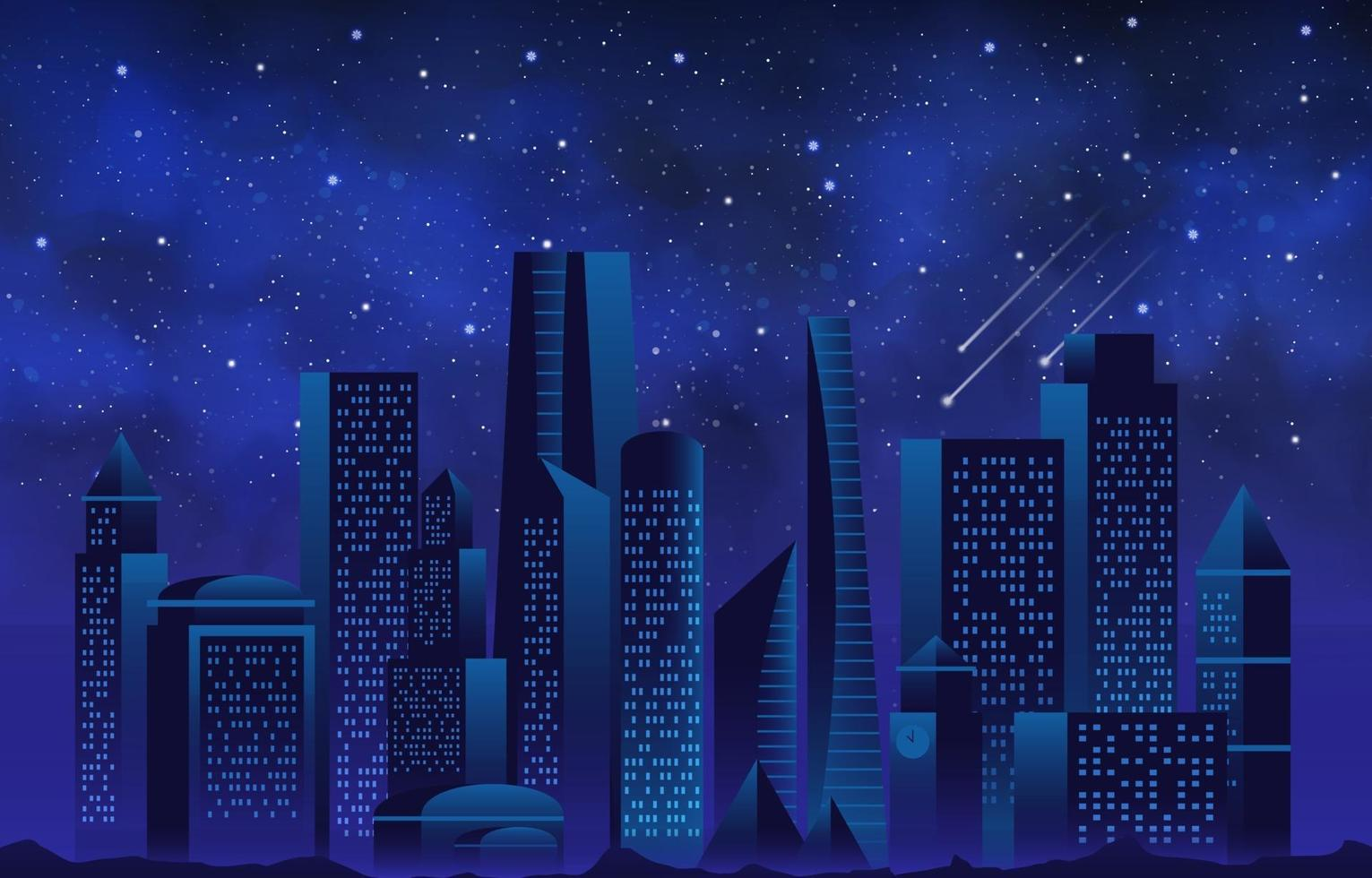 Night Skyscraper Background vector