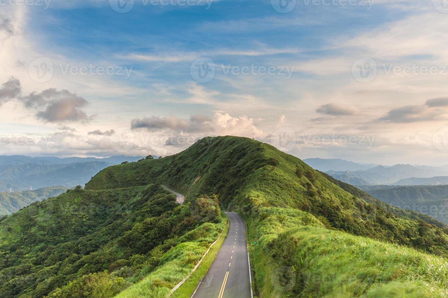 Scenery on the road number 102 in New Taipei, Taiwan photo