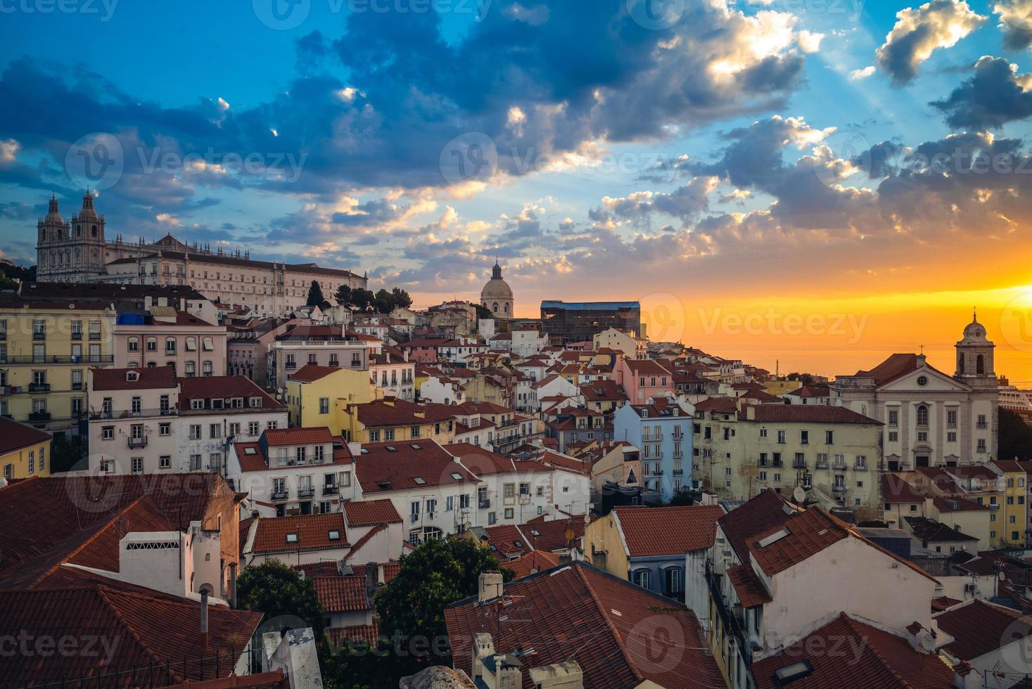 Skyline of Alfama district in Lisbon, capital of Portugal photo