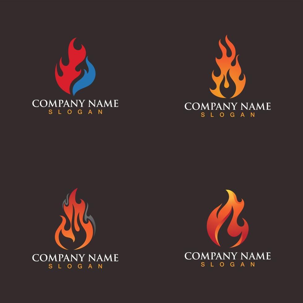 Fire logo vector illustration design