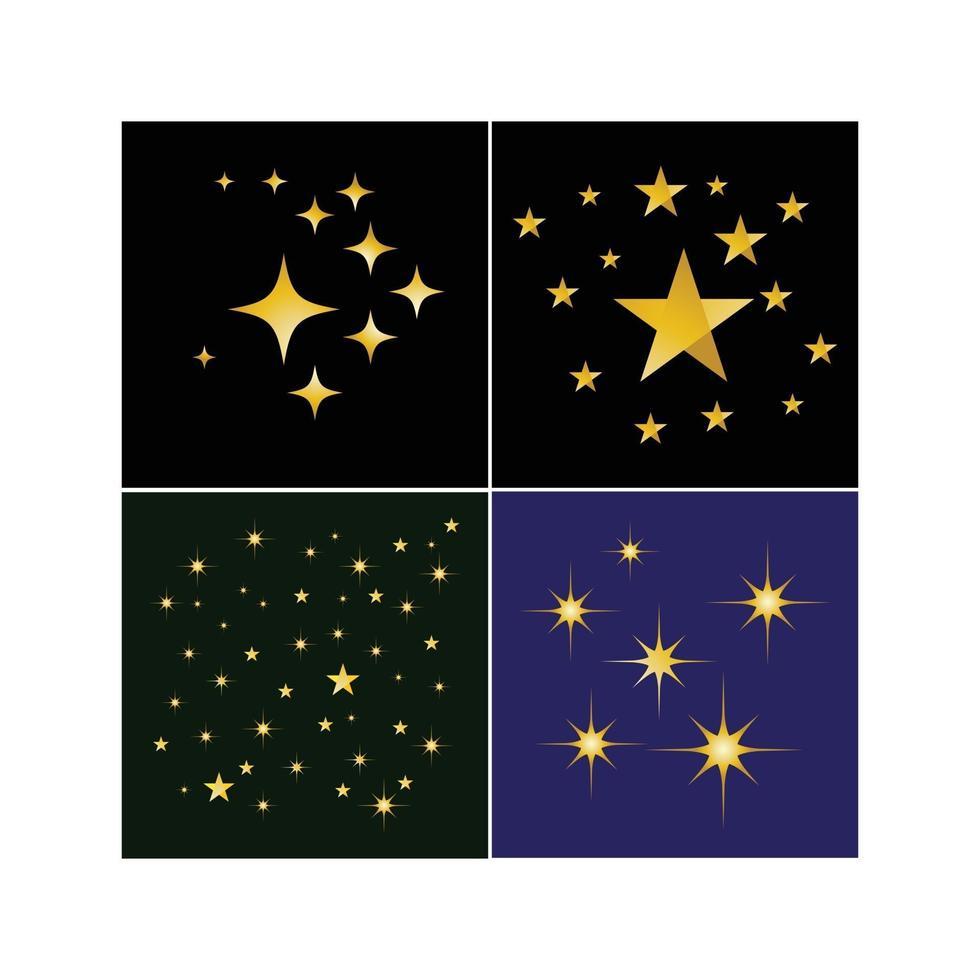 sparkling star golden background vector